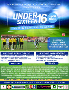2018 TNUK Under 16s Trials London and New Jersey